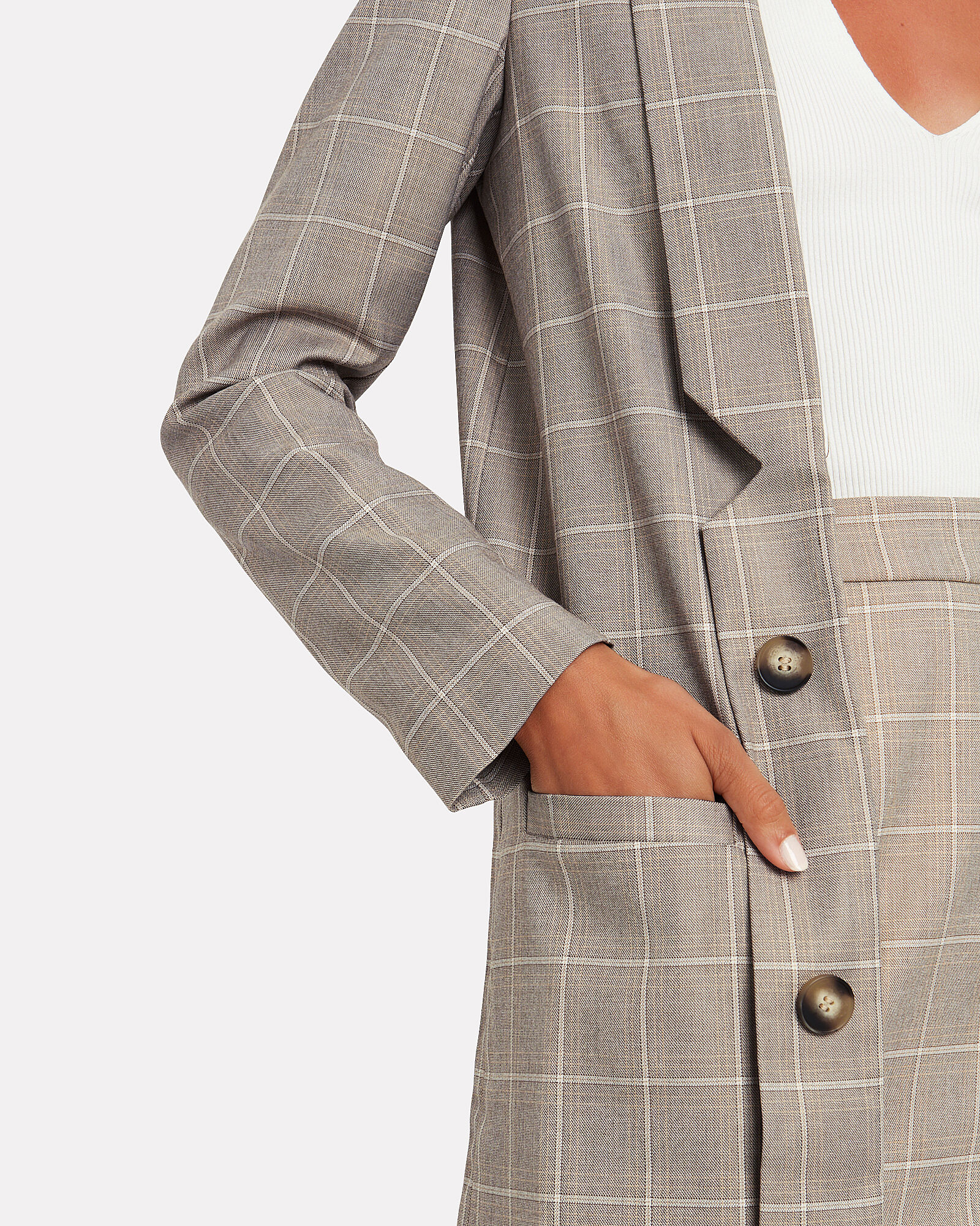 Mother Tongue Checked Blazer, MULTI, hi-res