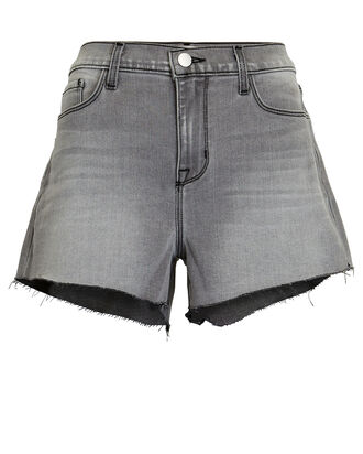 Audrey Cut-Off Denim Shorts, MIST, hi-res