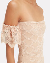 Victorian Flutter Midi Dress, BEIGE, hi-res