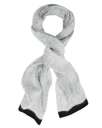 Colorblock Scarf, GREY/BLACK, hi-res