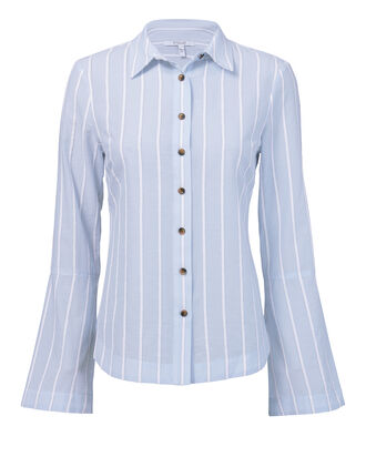 Striped Bouclé Top, BLUE-LT, hi-res