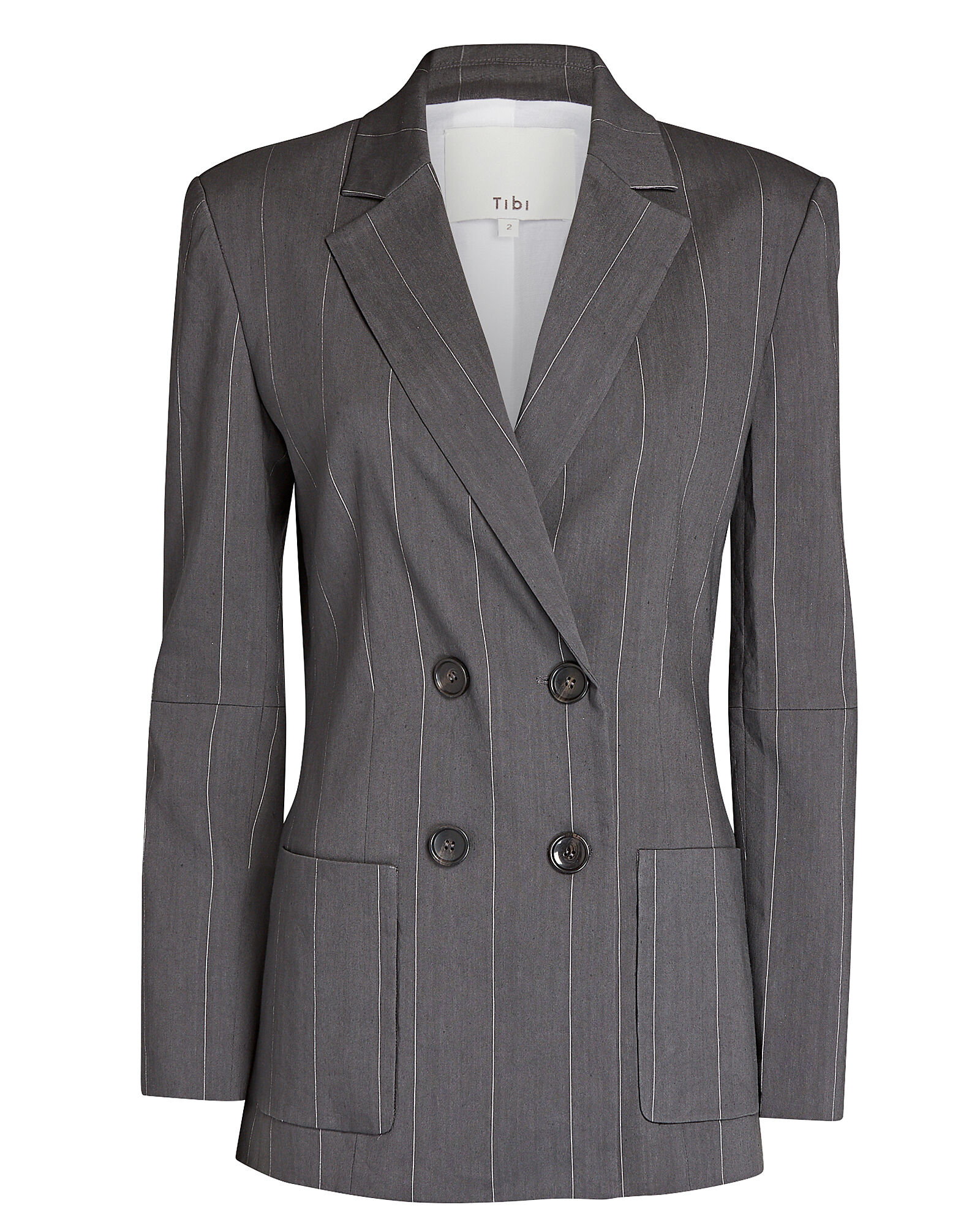 Isselin Striped Double-Breasted Blazer, MULTI, hi-res