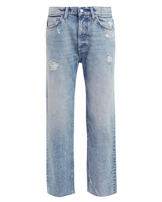 The Tommy Distressed Jeans, LIGHT WASH DENIM, hi-res