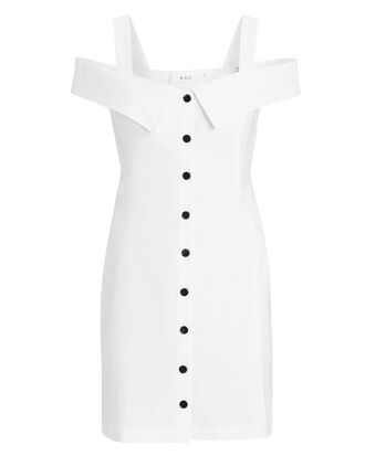Graham Cold Shoulder Mini Dress, WHITE, hi-res