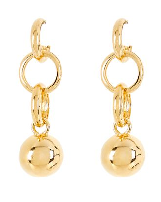 Dakari Circle Link Drop Earrings, GOLD, hi-res