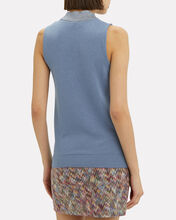 Mock Neck Top, BLUE/PURPLE, hi-res