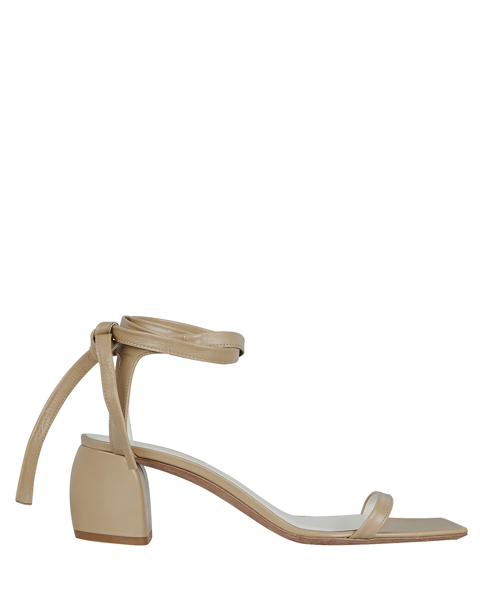 Shyam Ankle Tie Leather Sandals, TAN, hi-res
