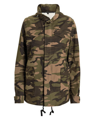 Woodland Camo Field Jacket, GREEN, hi-res