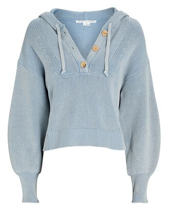 Ursina Hooded Rib Knit Sweater, LIGHT BLUE, hi-res