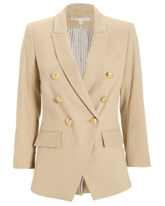Dickey Empire Double Breasted Blazer, BEIGE, hi-res