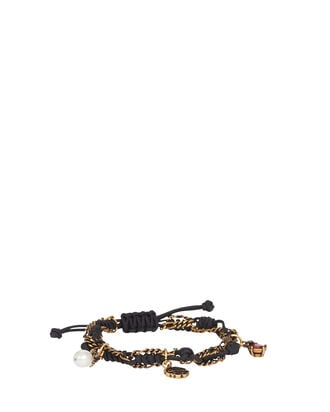 Friendship Charm Bracelet, BLACK, hi-res