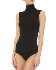 Viscose String Bodysuit, BLACK, hi-res