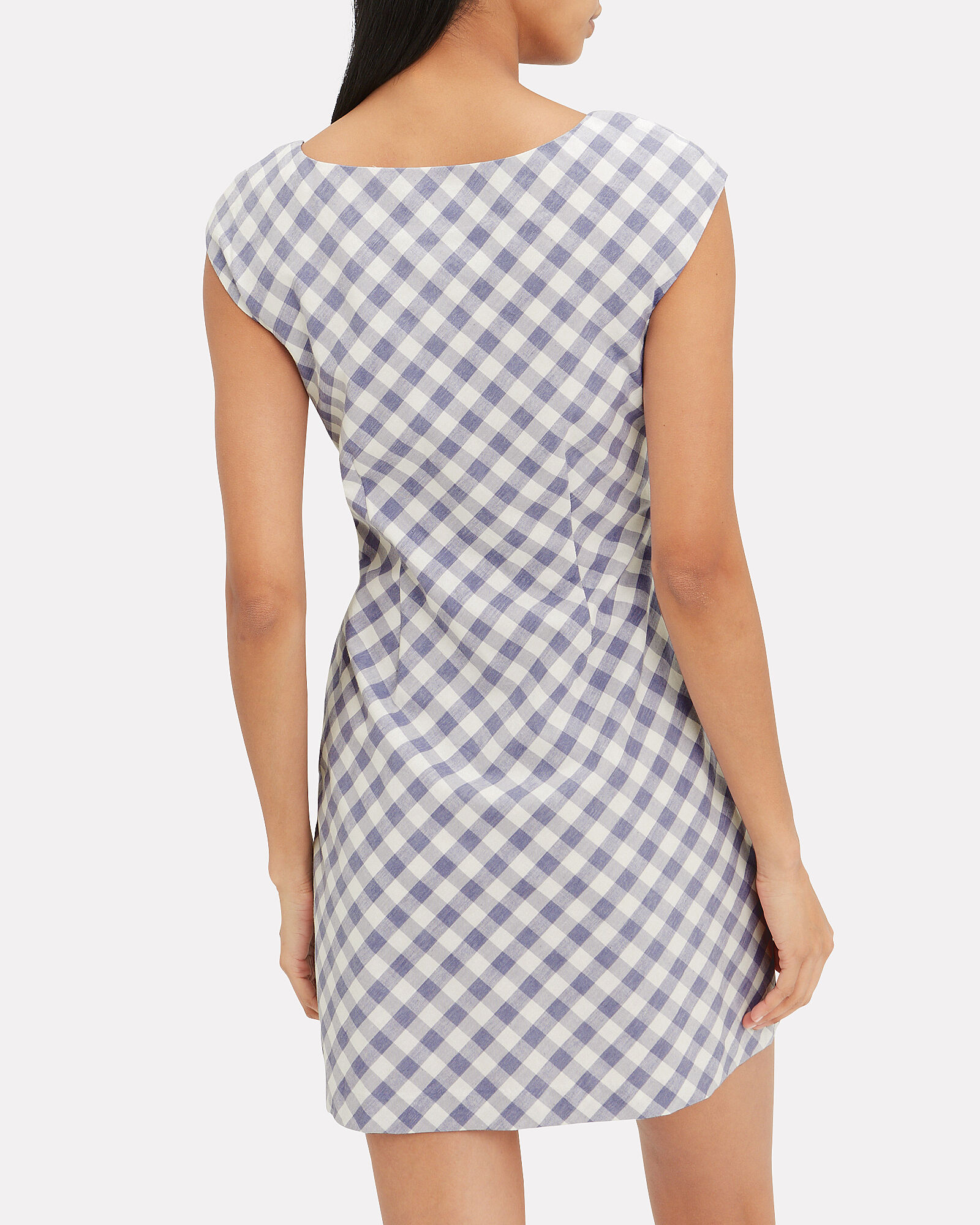Hadleigh Gingham Mini Dress, NAVY/GINGHAM, hi-res
