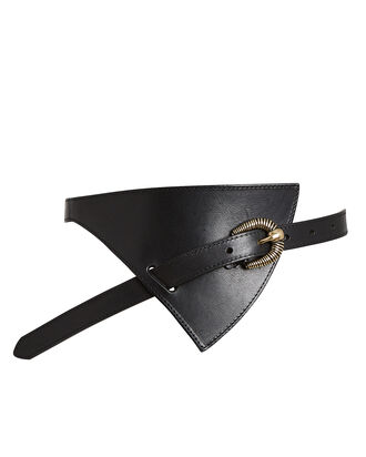 Asymmetrical Western Waist Belt, BLACK, hi-res