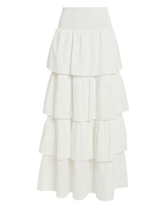 Paloma Cotton Maxi Skirt, WHITE, hi-res
