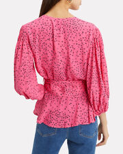 Barra Crepe Wrap Top, PINK, hi-res