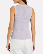 Sid Rib Knit Tank Top, PURPLE-LT, hi-res