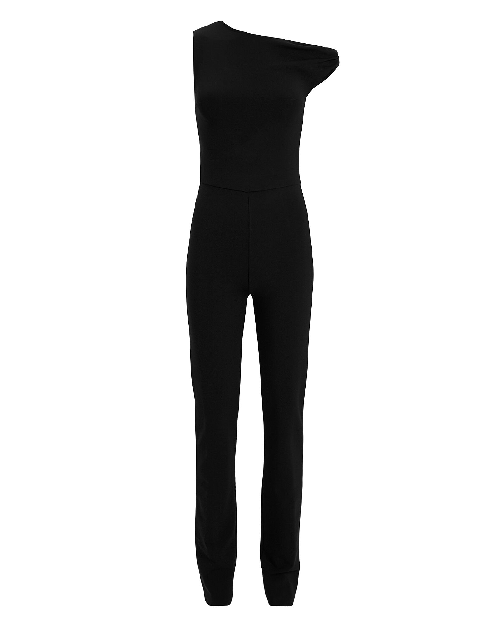 One Shoulder Twist Jumpsuit, BLACK, hi-res