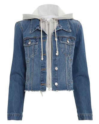 Cara Denim Jacket, BLUE DENIM/GREY, hi-res
