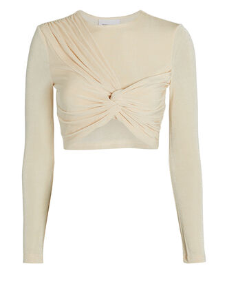 Sabine Gathered Jersey Top, CREAM, hi-res
