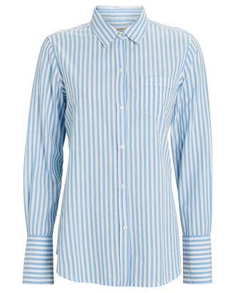 NL Striped Button-Down Shirt, WHITE/BLUE, hi-res