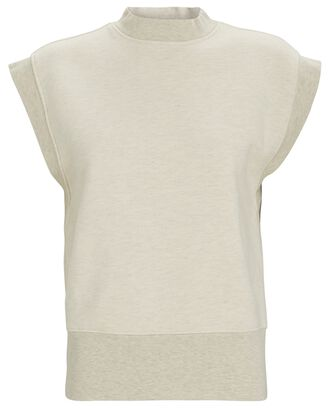 Simone Sleeveless Sweatshirt, BEIGE, hi-res