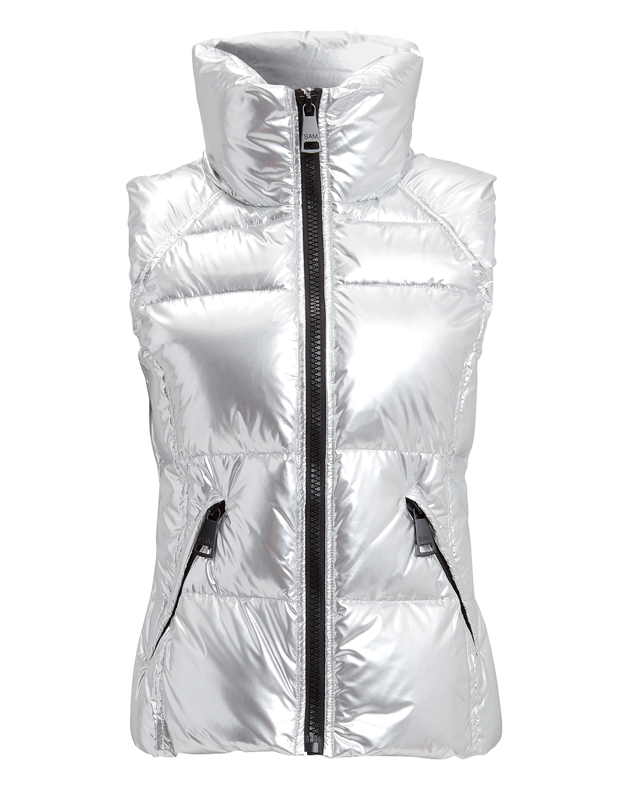 Freedom Silver Puffer Vest, SILVER, hi-res
