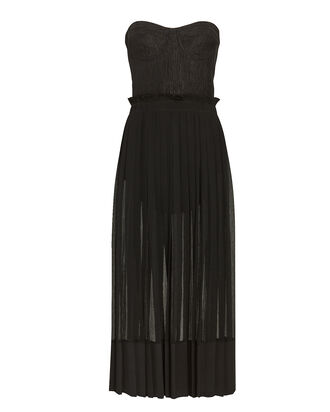Inasia Strapless Midi Dress, BLACK, hi-res