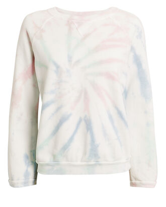 Tie-Dyed Sunday Sweatshirt, IVORY/PINK/BLUE, hi-res