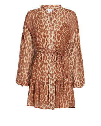 Jen Silk Leopard Mini Dress, , hi-res