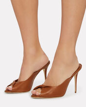Aliar Twisted Leather Sandals, BROWN, hi-res