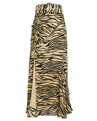 Zebra Print Skirt, YELLOW/BLACK, hi-res