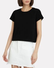 Classic Cropped Jersey T-Shirt, BLACK, hi-res