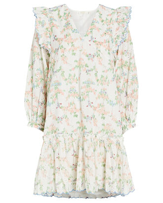Patricia Floral Cotton Mini Dress, , hi-res