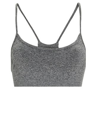 Loren Seamless Sports Bra, GREY, hi-res