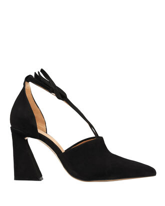 Lina Suede Black Pumps, BLACK, hi-res