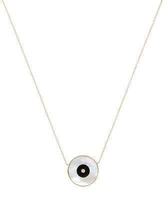 Danai Mother-of-Pearl Eye Necklace, GOLD/PEARL, hi-res