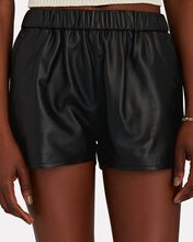 Dolphin Leather Shorts, BLACK, hi-res