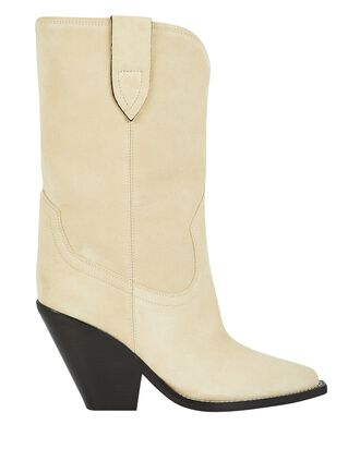 Laxime Suede Western Boots, IVORY, hi-res