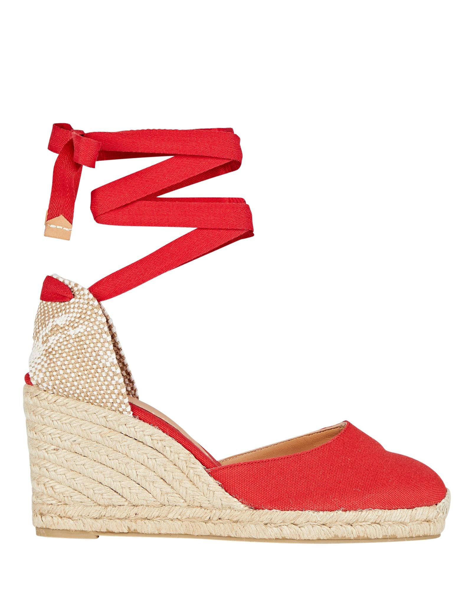 Carina 80 Espadrille Wedges, RED, hi-res