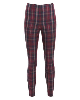 Simone Plaid Pants, RED PLAID, hi-res