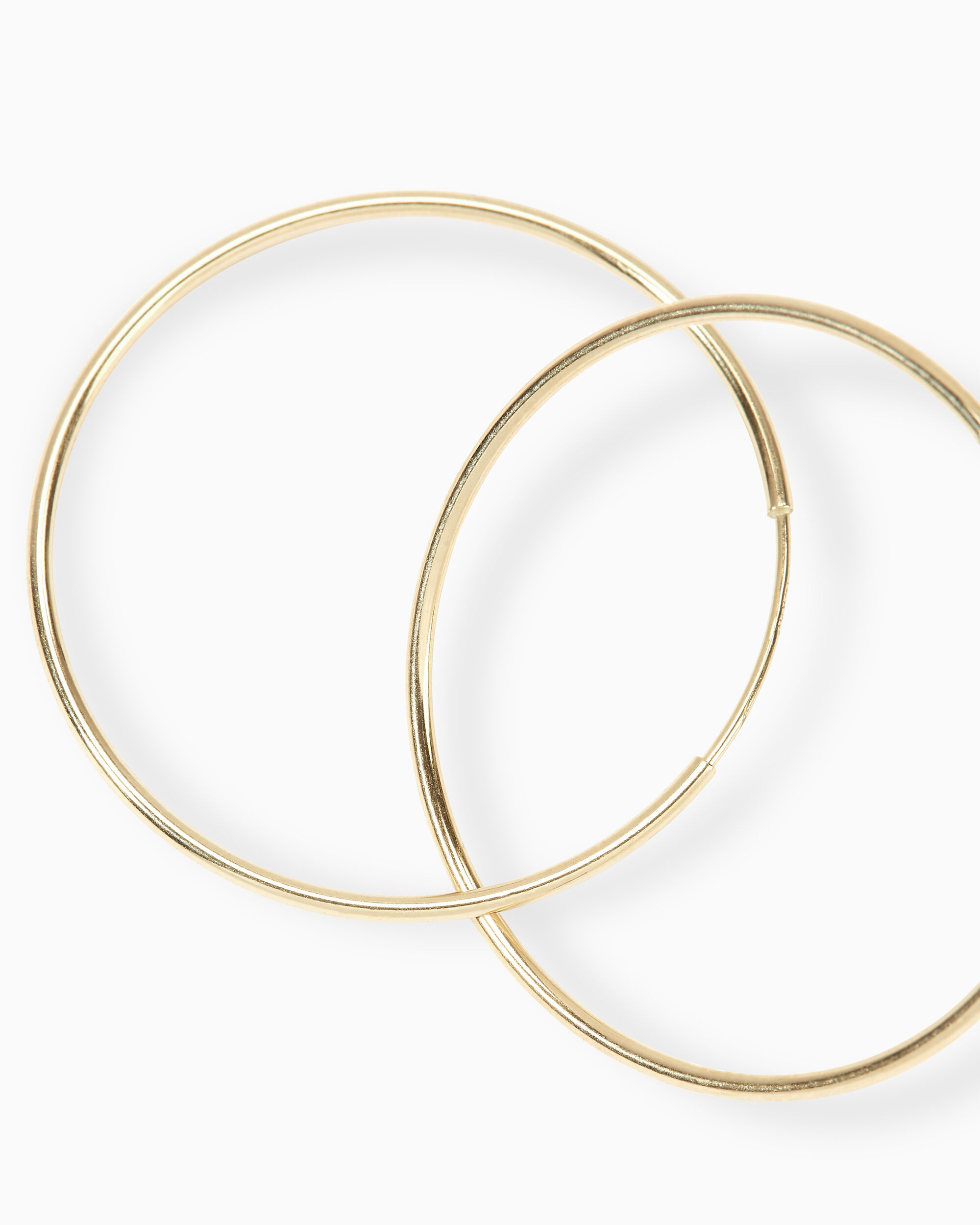 Smooth Infinity Hoops, GOLD, hi-res