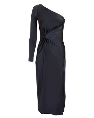 Twist Detail One Shoulder Dress, NAVY, hi-res
