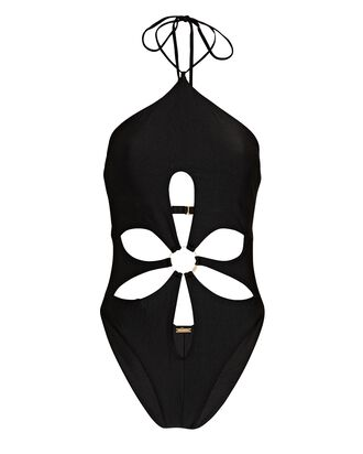 Aster Cut-Out One-Piece Swimsuit, BLACK, hi-res