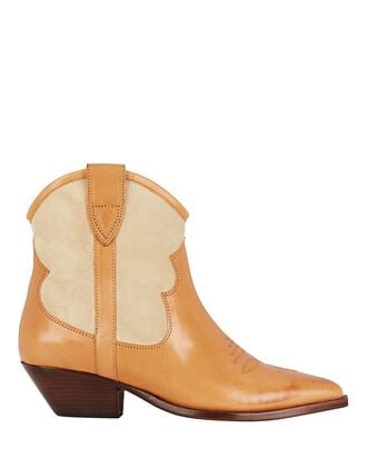 Demar Western Ankle Boots, BEIGE, hi-res