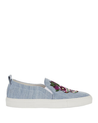 Mexico Slip-On Sneakers, BLUE, hi-res