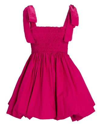 Amada Tie-Shoulder Bubble Dress, PINK, hi-res