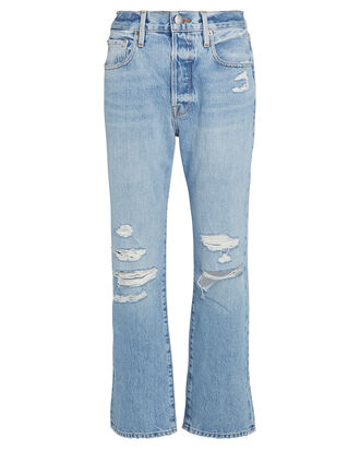 Le Original Distressed Jeans, MEDIUM WASH DENIM, hi-res