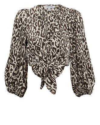 Isabella Puff Sleeve Top, LEOPARD, hi-res