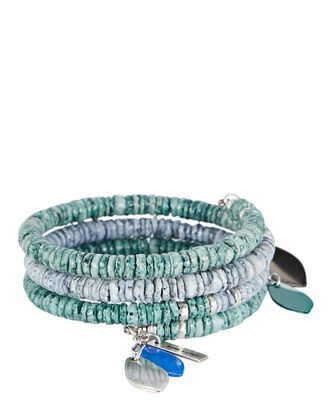 By The Sea Beaded Bracelet, GREEN-LT, hi-res